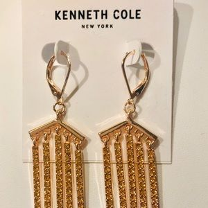 KENNETH COLE Rose Gold Dangle Earrings